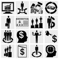 Collection of human resource finance logistic and management icons set isolated on grey background eps file available Royalty Free Stock Photos
