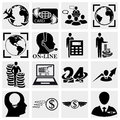 Collection of human resources management money icons set isolated on grey background eps file available Stock Images