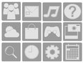 Collection of icons on phones websites java lang object number Royalty Free Stock Image