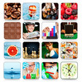 Collection of icons for programs and games Stock Photography
