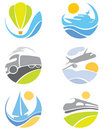 Collection icons -- transport Royalty Free Stock Photos
