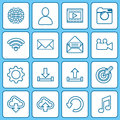 Collection icons for web and mobile apps. Royalty Free Stock Photo