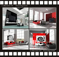 Collection images of drawing rooms Royalty Free Stock Photos