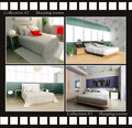 Collection of images of sleeping rooms Royalty Free Stock Images