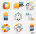 Collection of infographic templates for business vector illustra illustration Stock Image