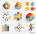 Collection of infographic templates for business vector illustra illustration Stock Photography