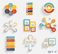 Collection of infographic templates for business vector illustra illustration Stock Images