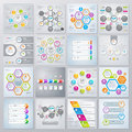 Collection of infographics elements in modern flat business style.