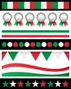 Collection italy italian patriotic borders useful as design elements banners Royalty Free Stock Photo
