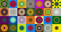 Collection of kaleidoscopic designs Royalty Free Stock Photo