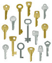 Collection of Keys - Set One Royalty Free Stock Photos