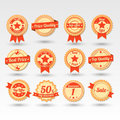 Collection of labels beautiful vector Royalty Free Stock Photo