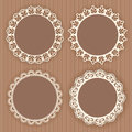 Collection lace frames vector illustration Royalty Free Stock Image