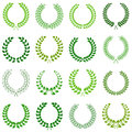 Collection of laurel wreaths vector Royalty Free Stock Images