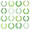 Collection of laurel wreaths vector Stock Photo