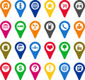 Collection locators different icons Royalty Free Stock Images