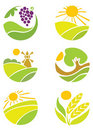 Collection of logos - Agriculture Stock Image