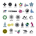 Collection logos and fuel oil of vector Stock Photos