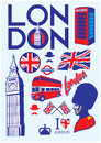 Collection of london set vector Royalty Free Stock Image
