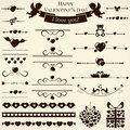 Collection of love design elements vector illustr various and romantic for and page decoration illustration Stock Photo