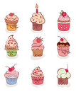 The collection - lovely cakes Royalty Free Stock Photos