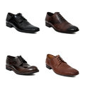 Collection of man shoes Royalty Free Stock Photo