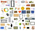 Collection of many objects Royalty Free Stock Photo