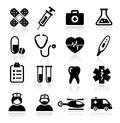 Collection of medical icons healthcare and Stock Image
