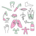 Collection of medical signs Royalty Free Stock Photo
