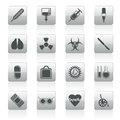Collection of  medical themed icons and warning-signs Royalty Free Stock Photo