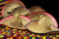 Collection of Mexican Hats Royalty Free Stock Photo