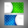 Collection  of modern business card templates Royalty Free Stock Photo