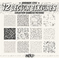 Collection monochrome seamless textures for digital design. Vect