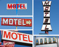 Collection of motel signs Stock Image