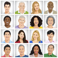 Collection of Multi-ethnic people Concept Royalty Free Stock Photo