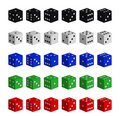 Collection of multicolored dices Royalty Free Stock Image
