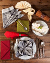 Collection of napkin folding Royalty Free Stock Photo