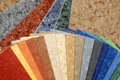 Collection natural linoleum the samples of Royalty Free Stock Photo