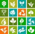 Collection of nature icons and logos - 6 Stock Photos