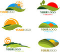 Collection of nature logos and icons Stock Photo