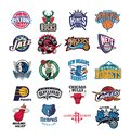 Collection of NBA team logos vector illustration