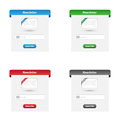 Collection of newsletter forms in various colors Stock Photo