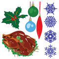 A collection of objects representing Christmas Royalty Free Stock Image
