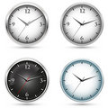 Collection of office clocks Stock Photo