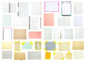 Collection of old note paper Royalty Free Stock Image