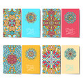 Collection of ornamental floral business cards,