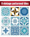9 collection patterned Vintage tile
