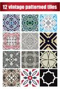 9 collection patterned Vintage tiles