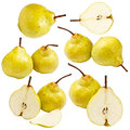 Collection of pears Royalty Free Stock Photo