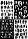 Collection of people vectors Royalty Free Stock Photo